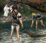 Die Berufung von Sankt Petrus und Sankt Andreas - Tissot